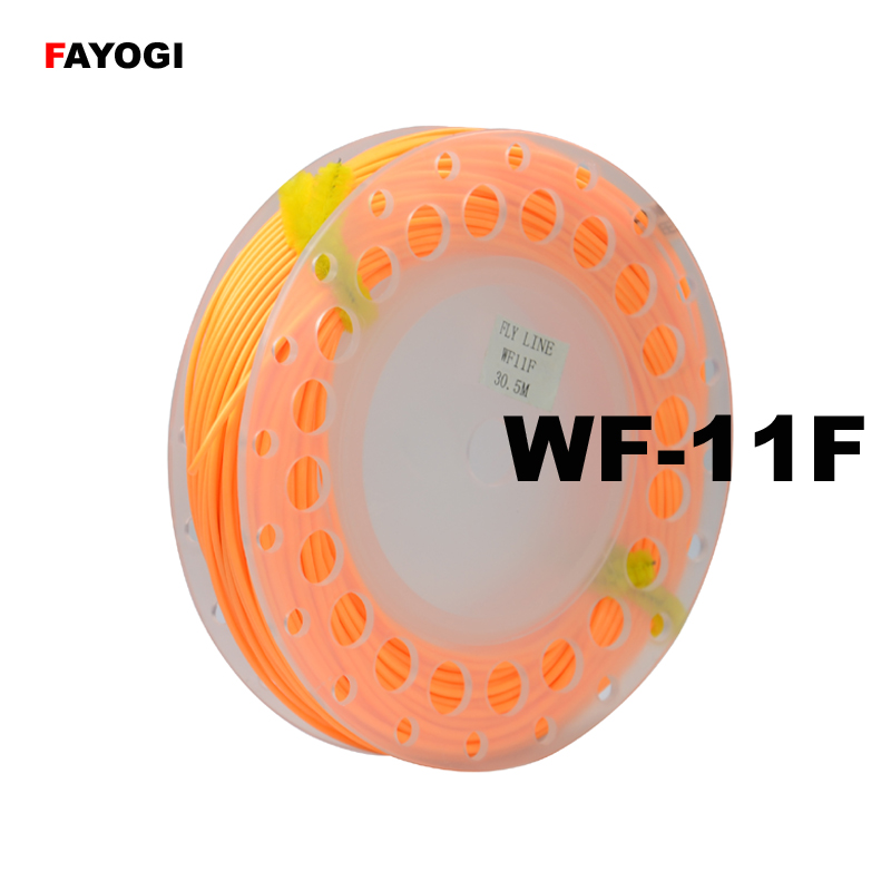 Free shipping fly fishing line with welded loops WF-11F, the length is 30.5m image