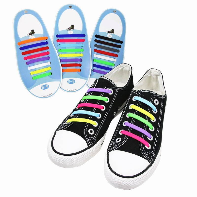 Pair Kid//Adult Curly Elastic Coil No Tie Shoelace Lace String for Sport Shoes
