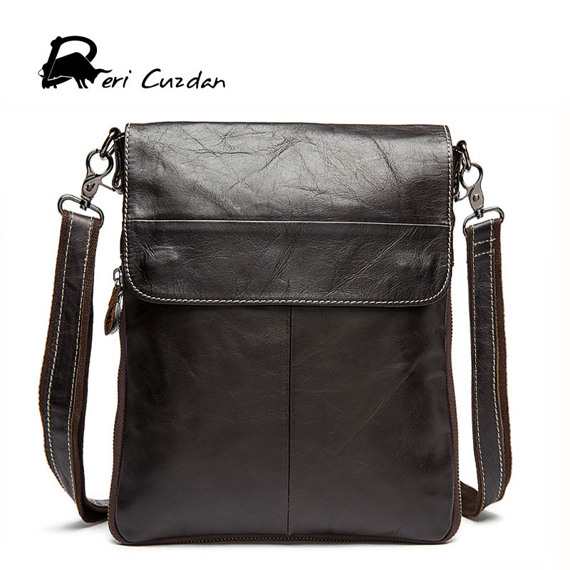 DERI CUZDAN Genuine Leather Crossbody Messenger Shoulder Bag Men Business Cowhide Handbag High Quality Travel Casual Male Bags genuine leather crossbody messenger shoulder bag men business cowhide tote high quality travel casual male bags lj 962