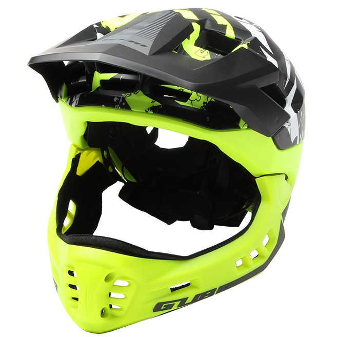 Детский шлем с подсветкой для велосипеда/отражающая полоса/Съемная Защита подбородка MTB/велосипедный шлем для скейтборда Спортивная Защитная крышка