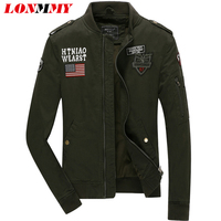 LONMMY Military Jacket men Cotton Brand Jacking man 2018 Spring jackets men coats Army bomber outerwear Casual Fashion M 4XL