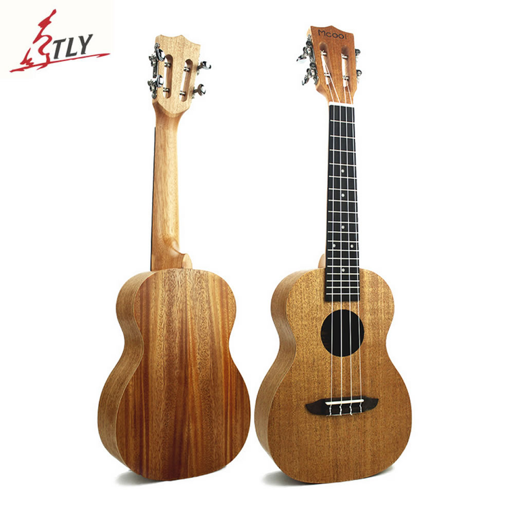Mcool Top Quality 23 inch Concert Ukelele Full Mahogany 4 Strings Hawaii Mini Guitar Ukulele Uke electric ukulele acoustic solid top only 4strings guitar ox bone nut mahogany body red tortoise shell celluloid binding ukelele