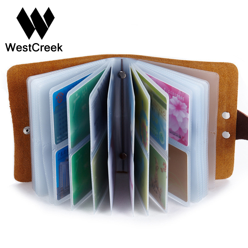 60 Slots Women Men Credit Card Holder Leather Buckle Large Capacity Business ID Holders Organizer Cardholder 26 slots genuine leather women men id card holder card wallet purse credit card business card holder protector organizer dc29