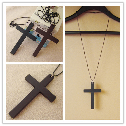 Vintage Necklace Big Pendant Ethnic Necklace Wooden Cross Long Necklace Ethnic Jewelry Maxi Necklace For Women Wholesale Price