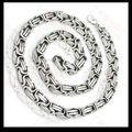 Venta al por mayor \ retail! 60 cm * 8 mm 85 g venta del acero inoxidable 316L plata Neklace bizantina cadenas para hombre, precio más bajo mejor calidad
