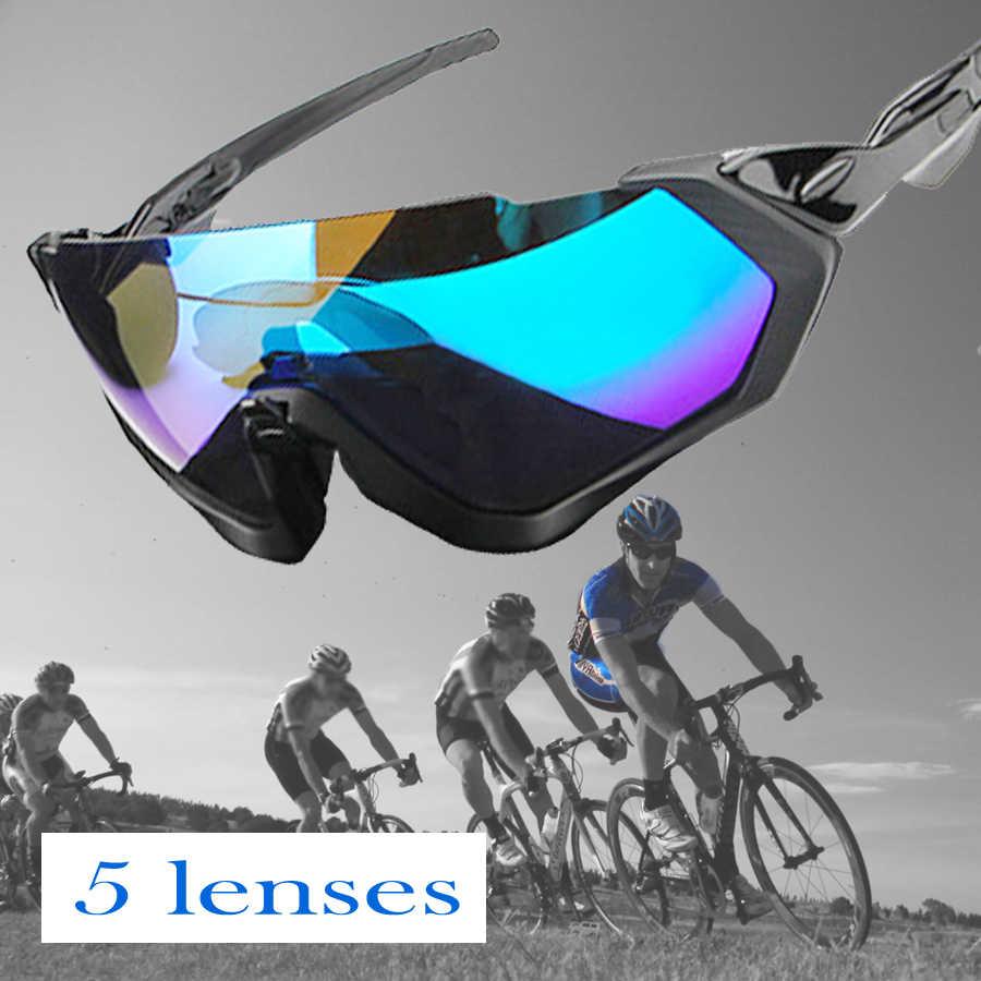 75cf0fa393b5 NEWBOLER 5 Lens Cycling Sunglasses Polarized Men Women Sports Glasses MTB Bike  Bicycle Eyewear Bicicleta Gafas
