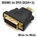 Chapado en oro hdmi macho a dvi-d (24 + 1) adaptador macho de extensión conector convertidor para hdtv proyector pc portátil