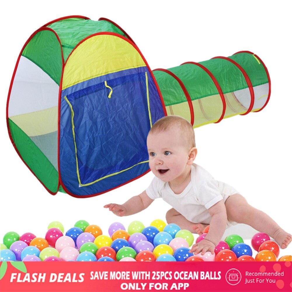 Maison de jeu bébé maison pour enfants Cubby-Tube-tipi maison de bébé tente de jeu Tunnel jouet océan gonflable maison tente balle piscine jouet