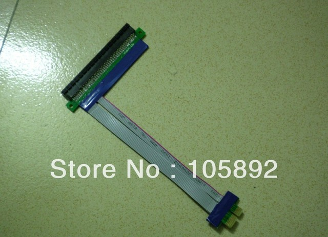 Free shipping 5pcs/lot  length PCI Express PCI-e1 to16 Riser Card Flex Flexible Ribbon Extender Extension Cablef for Bitcoin