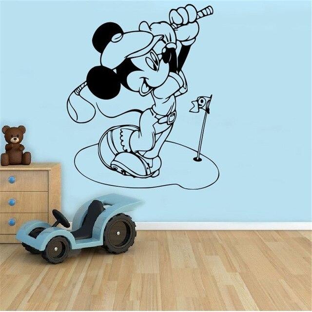 Mickey Mouse Golf Wall Decal Cartoon Vinyl Sticker Wall Art Decor  Childrenu0027s Kids Room Ideas Room