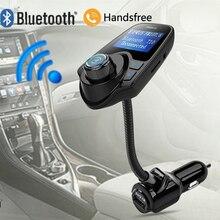 2017 Car Universal T10 Bluetooth Car Kit Handsfree Radio FM Transmitter TF MP3 Player USB charger Handsfree Calling Car styling