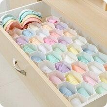 Caja de partición almacenamiento Honeycomb cajón ropa interior almacenamiento entramado escritorio calcetines de plástico ropa interior compartimiento organizador cajas
