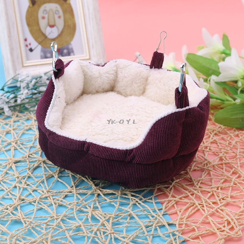 Pet Nest Velvet Hanging Sofa Bed Hammock For Ferret Rabbit Rat Hamster Guinea Pig Squirrel Toy