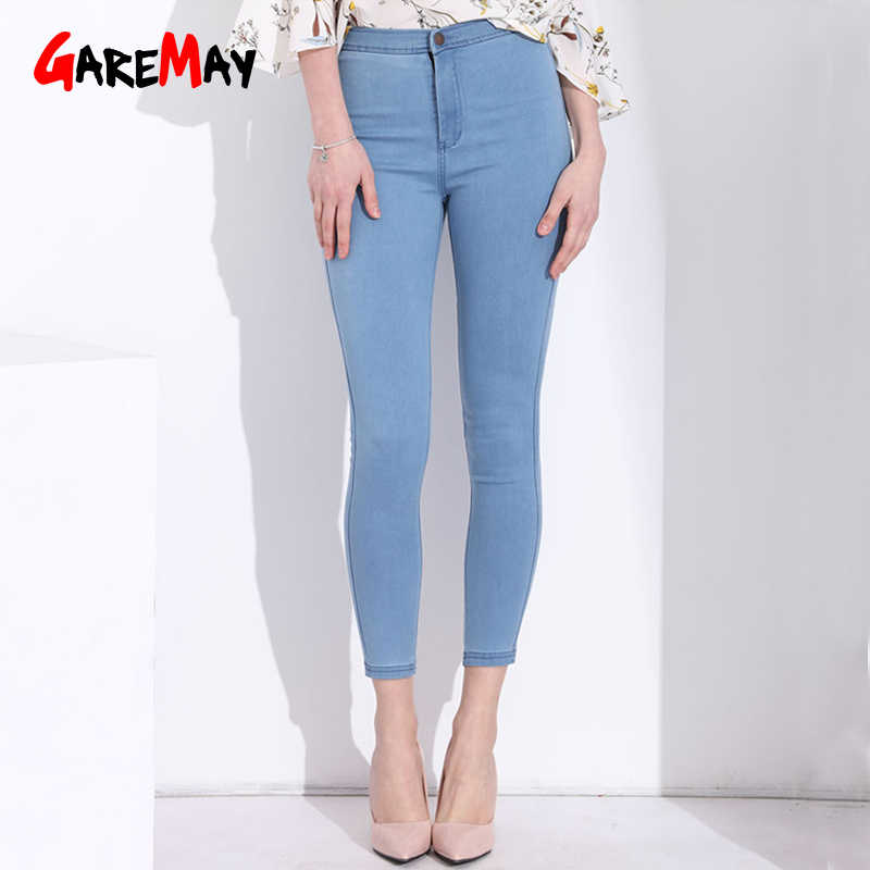 más baratas 017b2 0ba6e Garemay Skinny Jeans Woman Pantalon Femme Denim Pants Strech Womens Colored  Tight Jeans With High Waist Women's Jeans High Waist