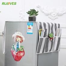 Пылезащитный чехол для холодильника с карманом, сумка для хранения, органайзер для стиральной машины