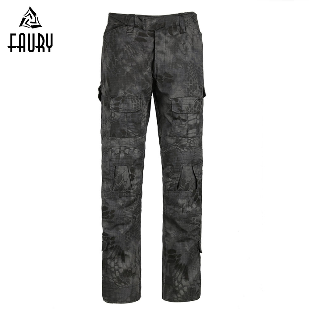 Military Tactical <font><b>Pants</b></font> Camouflage Tear-proof Plaid <font><b>G3</b></font> Frog <font><b>Pants</b></font> CS Camo <font><b>Pants</b></font> Workout <font><b>Pants</b></font> Army Hunter SWAT <font><b>Combat</b></font> Trousers image