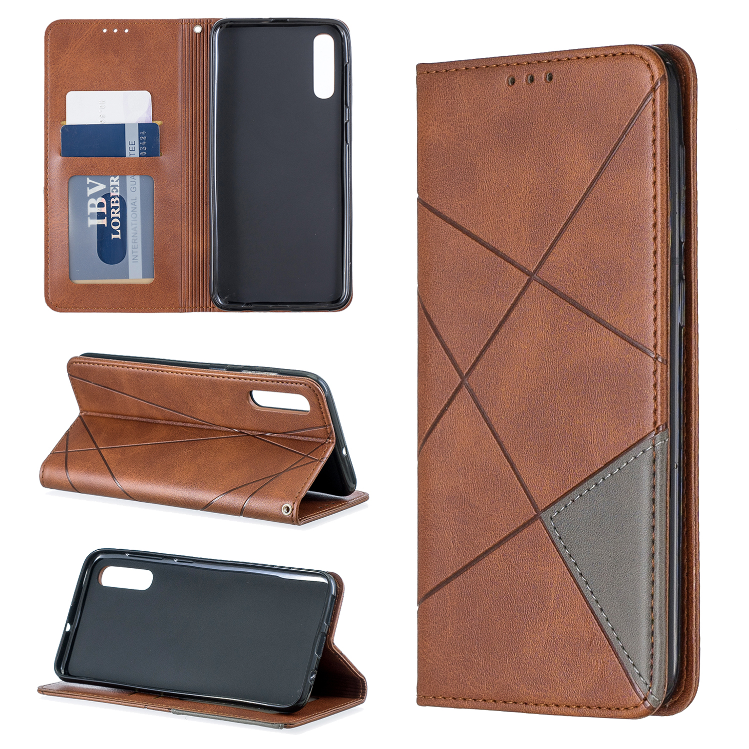Leather Flip A50 A60 A70 A40 A30 A20E A10 M10 A80 <font><b>Case</b></font> For <font><b>Samsung</b></font> Galaxy <font><b>S9</b></font> S10 J4 J6 Plus Note9 Note 10Pro Magnet Cover image