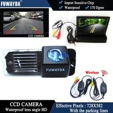 Fuwayda Беспроводной Цвет ПЗС автомобиля заднего вида Камера для Фольксваген Палов (6R) /golf6vi/passatcc + 4.3 дюймов складной ЖК-дисплей Мониторы