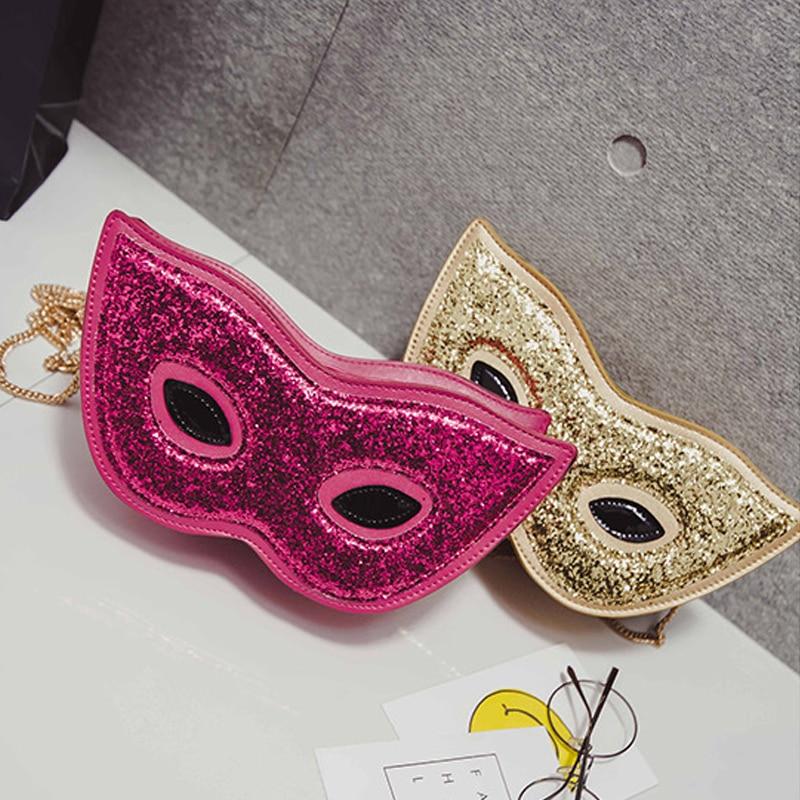 1 Stile Bag Donne 3d 2 Modo Party Fox Nuove Paillettes Maschera Feminina Messenger Sacchetti 3 Di Per Halloween Della Catena Spalla Borsa Bolsas R4fxwp