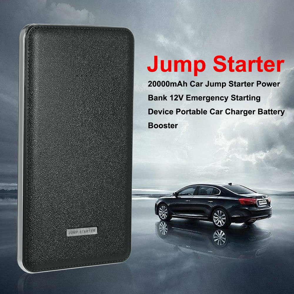 Car Jump Starter 20000mAh Power Bank 12V Emergency Starting Device Portable Car Charger Battery Booster 89800mah led emergency car jump starter 12v 4usb charger battery power bank portable car battery booster charger starting device