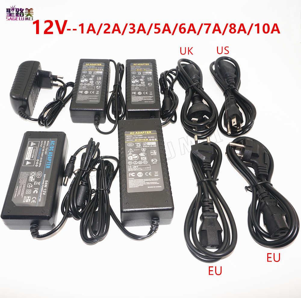 DC 12V 1A 2A 3A 5A 6A 7A 8A 10A LED power Adapter Für ws2811 / 5050 / 3528 / 6803 LED Streifen AC100-240V led Beleuchtung transformatoren