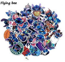 Get more info on the Flyingbee 52 Pcs Stitch Graffiti Stickers for Kids DIY Luggage Laptop Skateboard Car Bicycle Waterproof Sticker X0212