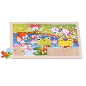 Image 3 - Puzzle en bois pour enfants 22.5x15 cm, grands puzzles danimaux de dessins animés, jouets éducatifs pour filles et garçons, haute qualité