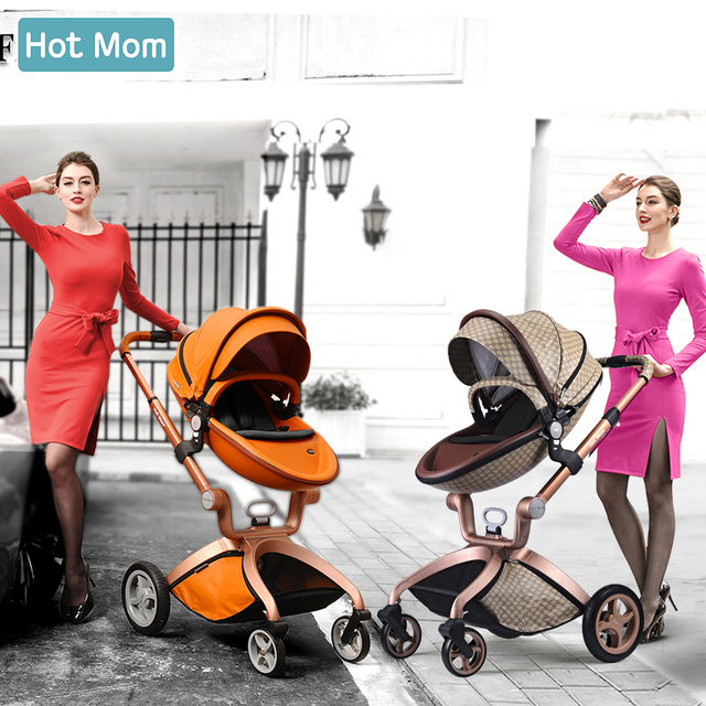 Baby Stroller 3 in 1,Hot Mom travel system High Land-scape stroller with bassinet in 2019 Folding Carriage for Newborns baby