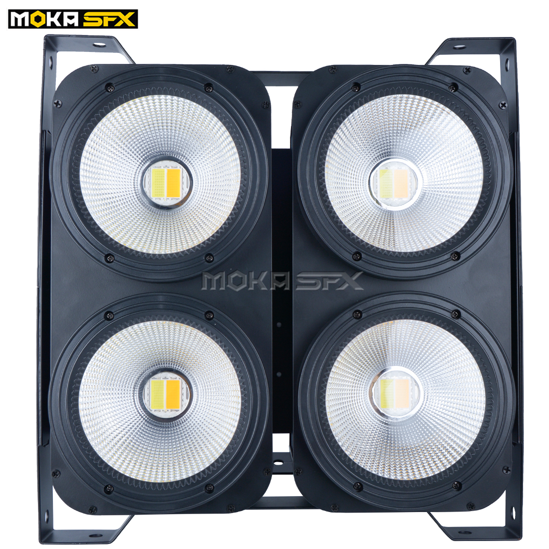 1 pcs / lot 4 yeux 100w Led Audience Light COB Blanc chaud 2IN1 Couleur Led COB étape légère LED Blinder Light 3/7 / 16CH