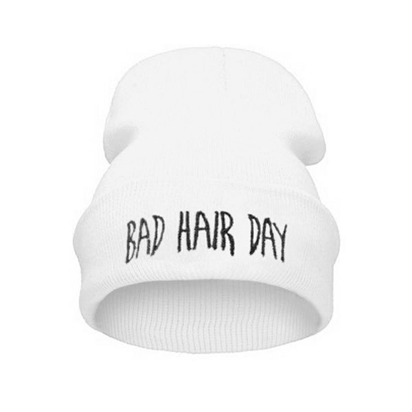 2016 Fashion New Unisex Women Mens Winter Bad Hair Day Snap Back Beanies Hat Knit Hip Hop Sport Warm Ski Cap touca feminina Z1