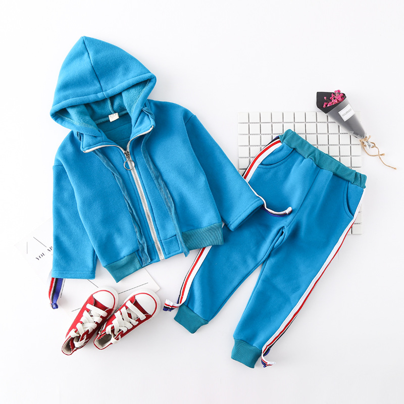 Toddler Tracksuits Kids Baby Girl Clothes Sets Fashion Side Striped Jacket Pants 2PCS Outfits Boys Sport Suit Children Tracksuit