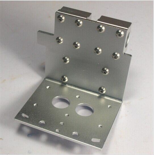 ФОТО Reprap Prusa i3 3D printer parts X axis dual nozzles hotend X Metal dual exturder carriage aluminum alloy 45mm hole distance