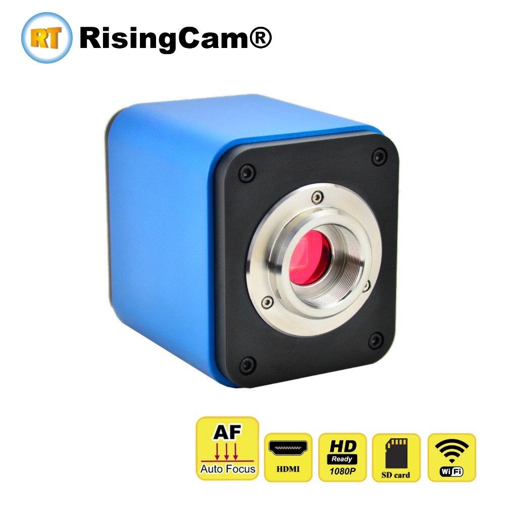 Autofocus 1080p digital SONY CMOS sensor auto focus C mount trinocular microscope Wifi HDMI microscope camera