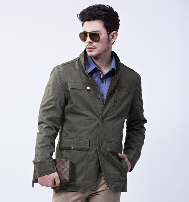 7bafe181b16 2014 new Spring brand style outdoor fashion men s business casual suit  jacket blazer genuine-in Jackets from Men s Clothing on Aliexpress.com