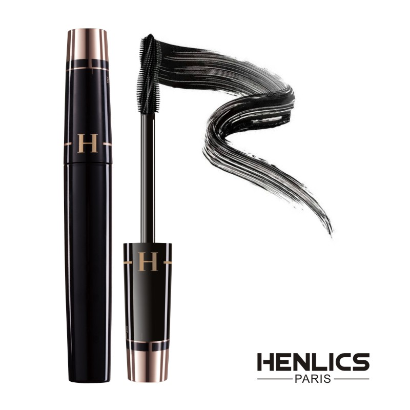 HENLICS Multi-functional 3D Mascara Waterproof Liquid Fiber Long Black Eyelashes Makeup Curling Mascara Lash Extension Mascara