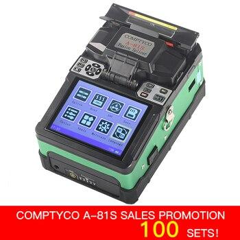 COMPTYCO A-81S inteligente automático empalmador de fusión óptica de la fibra FTTH fibra óptica de soldadura máquina de empalme de herramientas de nuevo producto