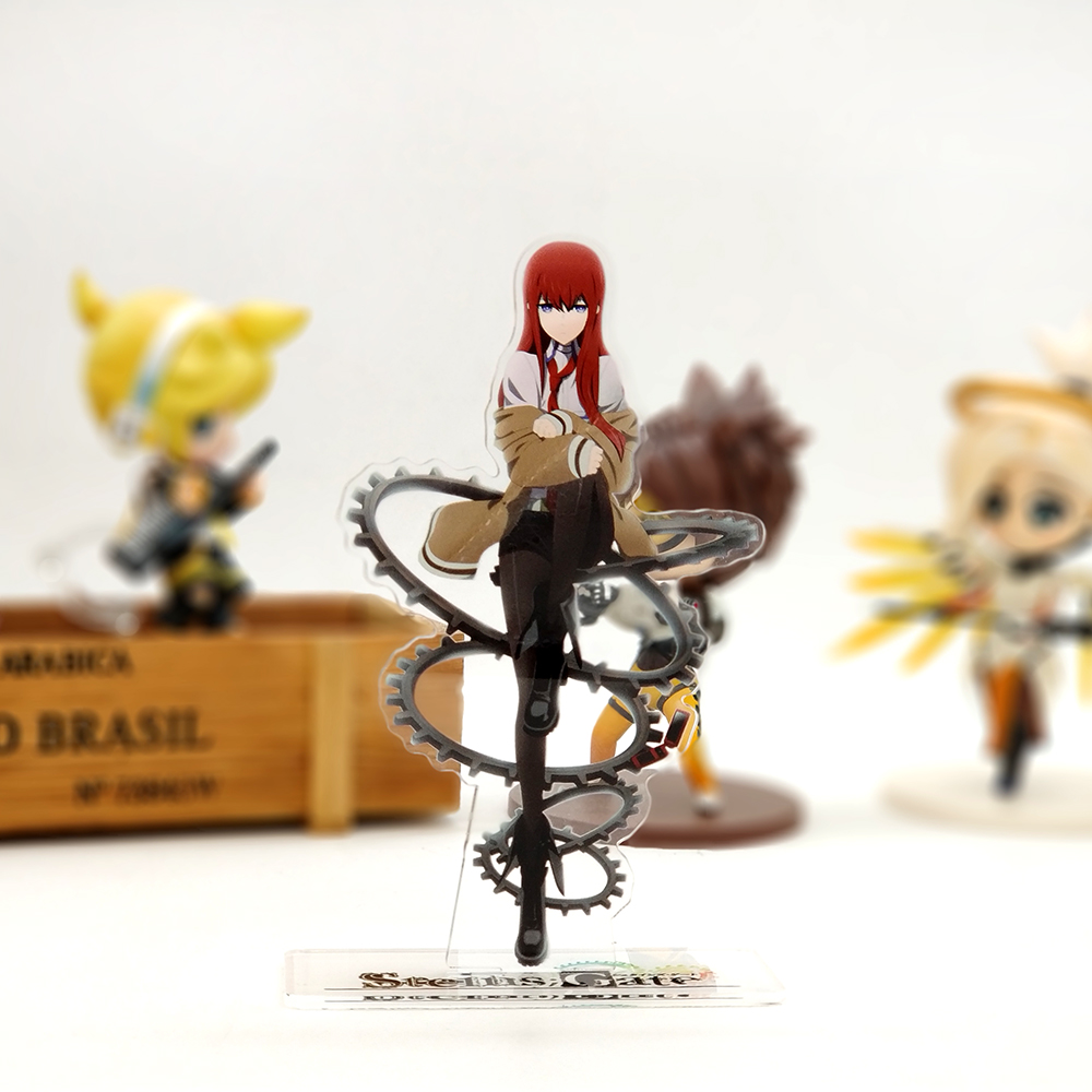 Love Thank You Steins Gate 0 Kurisu Makise acrylic stand figure model plate holder cake topper anime japanese okabe love thank you anime jojo s kujo jotaro bizarre adventure acrylic stand figure model double side plate holder cake topper anime