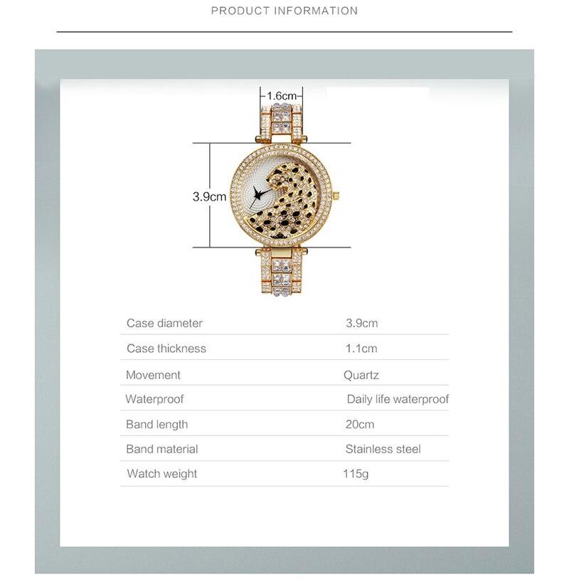 Miss Fox Women's Watch 2019 Top Brand Luxury Bling Ladies Golden Leopard Watches Crystal Diamond Watch Female Relogio Feminino (5)