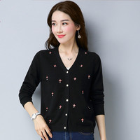 Spring New Nail Women S Sweaters V Korean Korean Slim Was Thin Sweater Cardigan Sweater