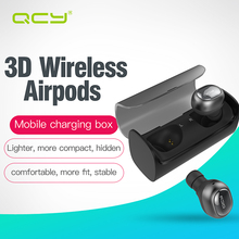 QCY Q29 3D stereo airpods headset business earphones wireless bluetooth  V 4.1 headphone and charge automatically power bank