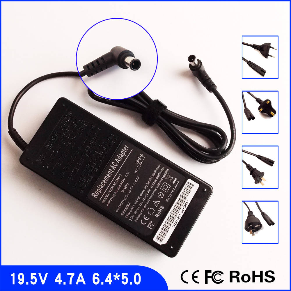 19.5V 4.7A Laptop Ac Adapter Power SUPPLY + Cord for Sony VA
