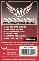 5 упаковок в партии, Mayday Games, для 43*65 мм, защита для карт, чехол с 100 рукавом, держатель для настольной игры, чехол для карт, 7045