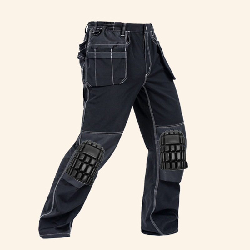 Image 5 - 2019 New Men Working Pants Multi Pockets Work Trousers With Removable Eva Knee Pads Top Quality Worker Mechanic Cargo Work Pants-in Safety Clothing from Security & Protection