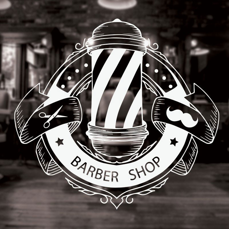 Man Barber Shop Sticker Name Chop Bread Decal Haircut Shavers Posters Vinyl Wall Art Decals Decor Windows Decoration Mural 3W13