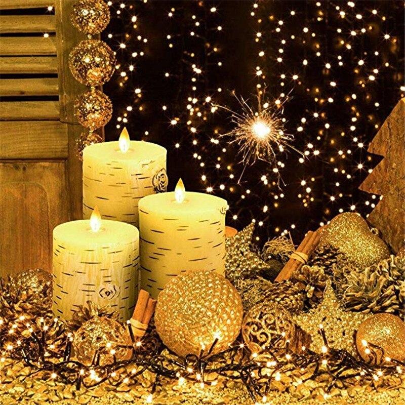 3 uds./vela electrónica de cera con batería luz LED tipo vela sin llama parpadeante vela electrónica remota decoración del hogar velas de fiesta de boda - 6