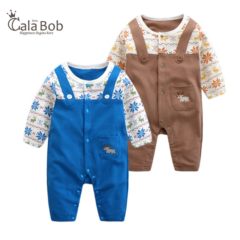 CalaBob Autumn Winter Baby Rompers Long Sleeve Cotton Cartoon Animal Jumpsuit Infant Newborn Clothing Baby Boy Girl Clothes baby overalls long sleeve rompers clothing cotton dog anima 2017 new autumn winter newborn girl boy jumpsuit hat indoor clothes