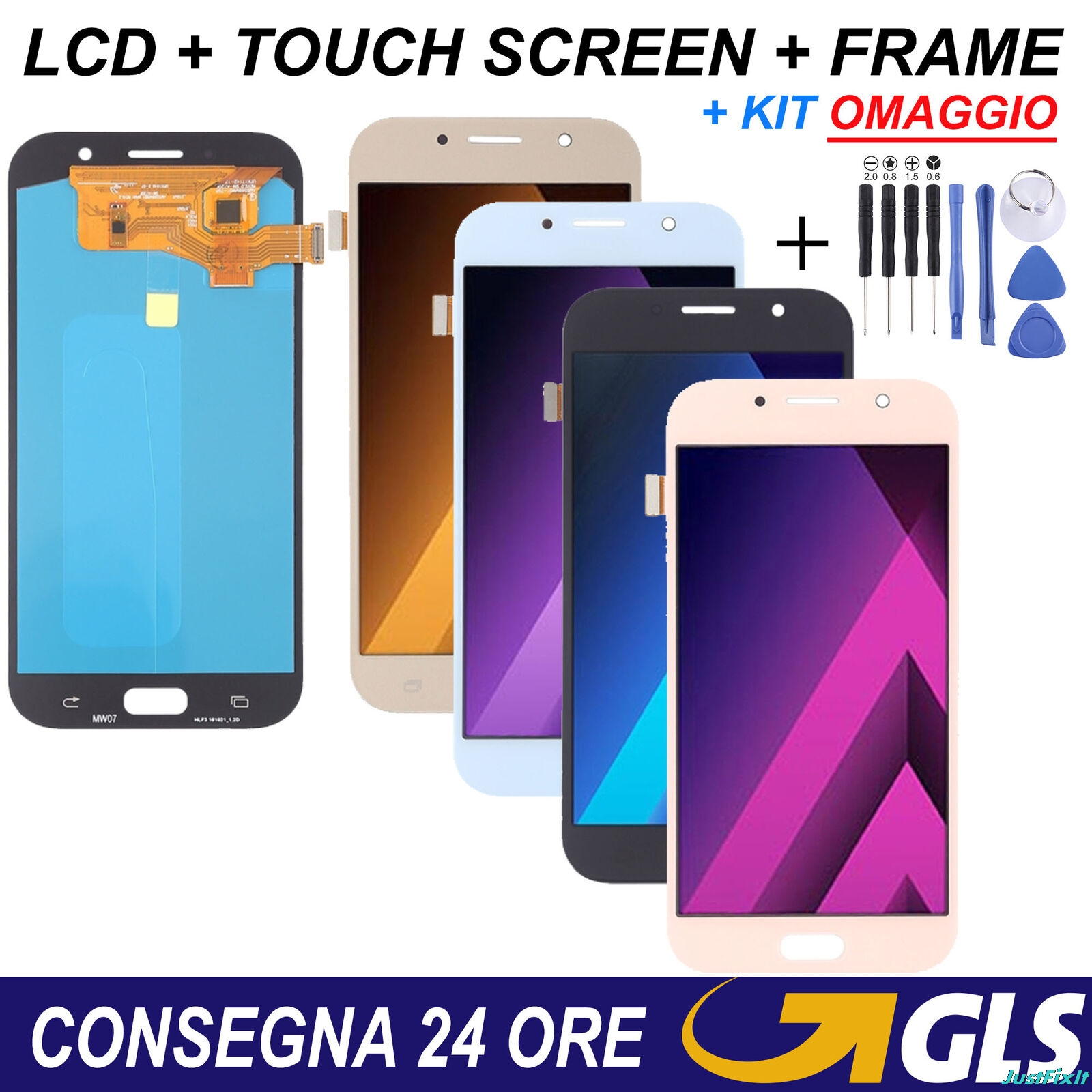 Super AMOLED Display For Samsung Galaxy A7 2017 A720 A720F A720M LCDs Touch Screen Digitizer Assembly