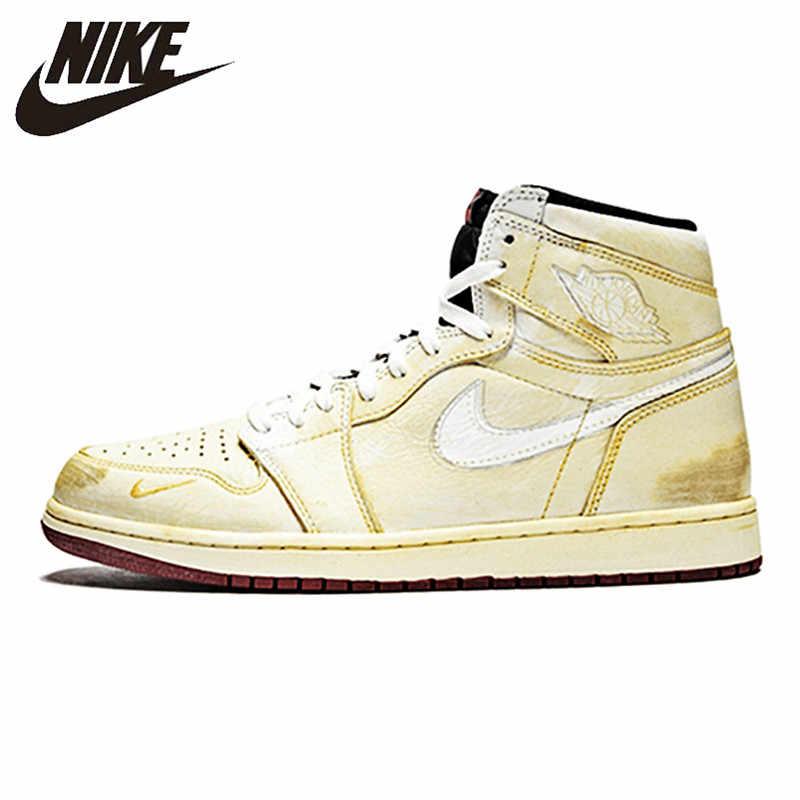 b9b218c4ef2 Nike Nigel Sylvester X Air Jordan 1 High OG Sneakers cream-coloured Men's