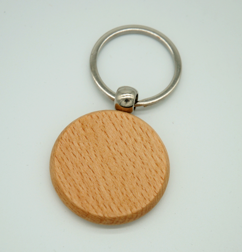 60pcs Blank Round Wooden Key Chain DIY Promotion Customized Key Tags Promotional Gifts