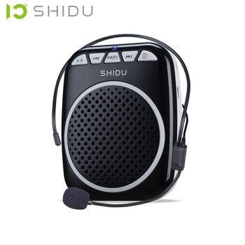 SHIDU S308 التدريس ميكروفون خاص مضخم صوت مع سماعة رأس سلكية الخصر الرقبة الفرقة و حزام كليب دعم MP3 U القرص/TF